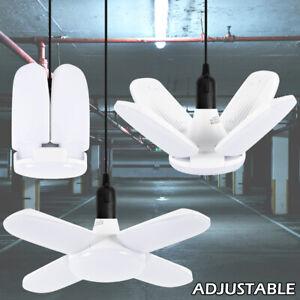 LED Garage Lights Fixture E27 Daylight for Workshop Warehouse Ceiling Lights UK