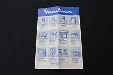 P756 dépliant publicitaire Moulinex 1969 aspirateur seche cheveux friteuse