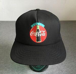 792d0f35d Coca Cola Snapback Hat 80s/90s Vtg Always Coke Black Cap USA Mint ...