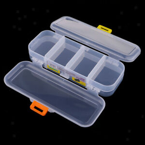5Packs 15 Grids Clear Small Parts Storage Box Beads Container Organizer Case
