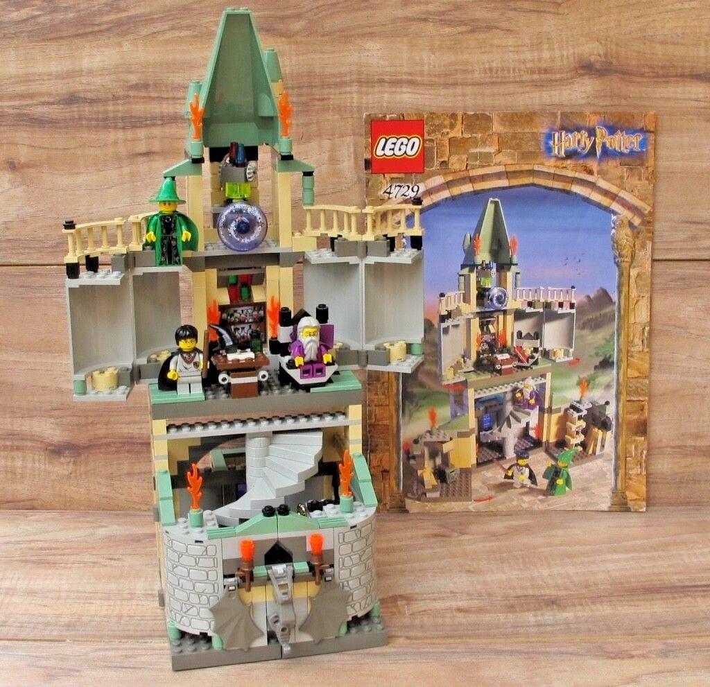HARRY POTTER LEGO 4729 Dumbledore's Office  2002 100% Complete + Manual - EUC
