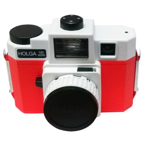 Glass lens Holga 120 GCFN Medium Format Camera Red Coloured Flash