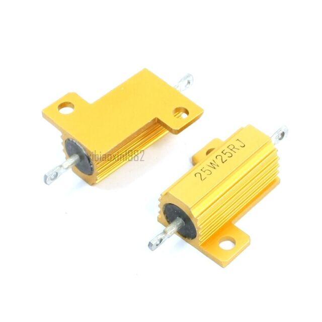 5/W 2/Ohm Axial Gold Tone Heatsink Aluminum Resistor Pack of 2