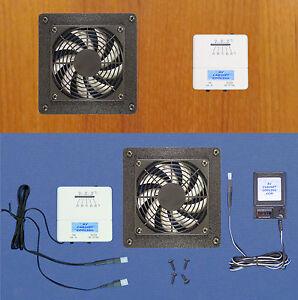 Delightful Image Is Loading Mega Fan AV Cabinet Exhaust Fan W Thermostat