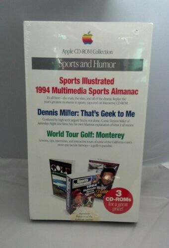 Brand New in Box 1994 Apple Computer Mac OS CD-Rom Collection Sports and Humor