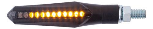 Laufeffekt LED Motorrad Blinker Sequentiell  Schwarz Getönt Quad Roller ATV