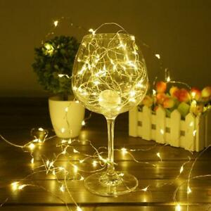 30-50-100-LED-Wire-String-Lights-Fairy-Xmas-Party-Decor-Holiday-Wedding-Supplies