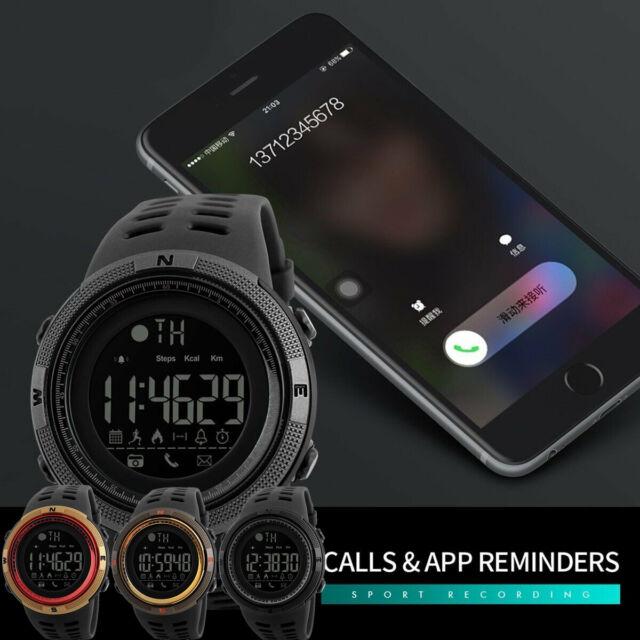 SKMEI Fashion Men's Smart Watch Bluetooth Digital Sports Wrist Watch Waterproof