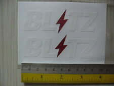 2 JDM BLITZ di-cut sticker decals, WHITE, JDM aftermarket racing sponsor