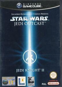 NINTENDO-GameCube-Star-Wars-Jedi-Outcast-Knight-II-2-ITALIANO-con-Manuale