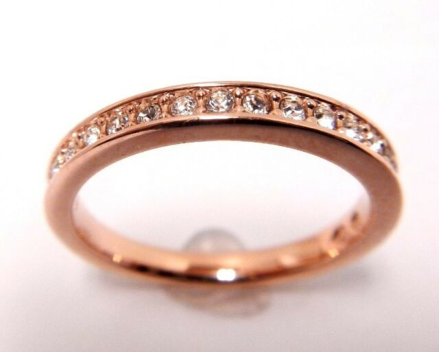 RARE CRYSTAL RING ROSE GOLD PLATED SIZE 6 EUR 52 2014 SWAROVSKI JEWELRY  5032899 6dbf529e4