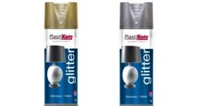 Plastikote-Glitter-Spray-Paint-400ml-Silver-or-Gold-NEW