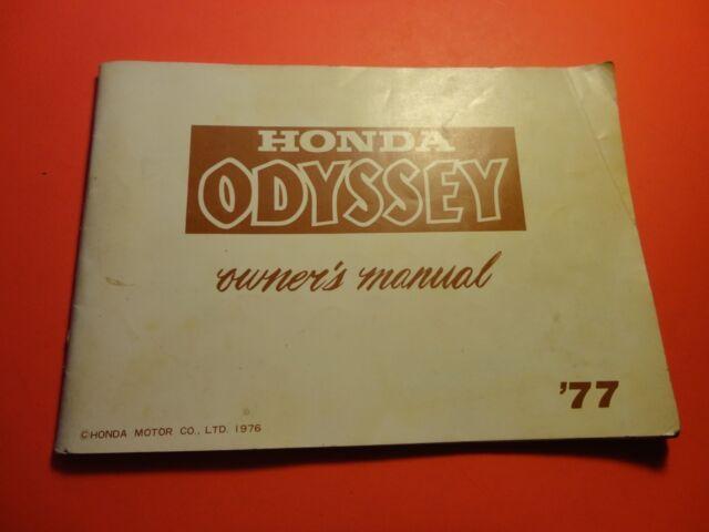 Oem Orginial Factory Honda Owners Manual 1977 Fl250