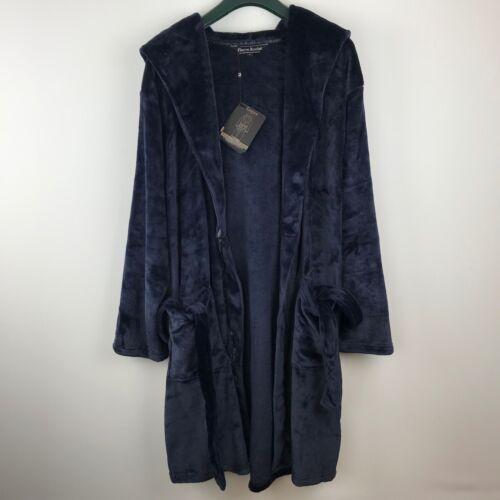 Pierre Roche Mens Luxury Hooded Super Soft Dressing Gown Nightwear Robe Size L