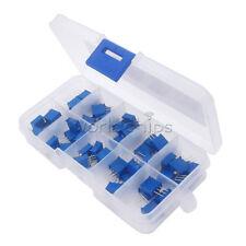 50pcs 10 Value 3296 Multiturn Variable Resistor Trimmer Potentiometer Kit Case