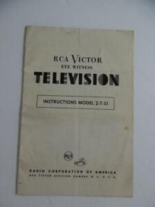 1950-RCA-Victor-Eye-Witness-Television-Model-2-T-51-TV-Instructions-Owner-Manual