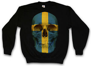 Pullover Mc Swedish Sweater Flag Skull Sweden Sweatshirt Banner Schweden Biker qtwv4nUx76
