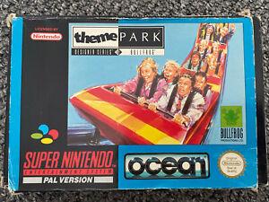 Parque Temático SNES. UK PAL parque temático para Super Nintendo. rara Y Completa
