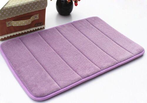 WO/_ AM/_ Soft Memory Foam Bath Rug NonSlip Bathroom Carpet Microfiber Mat 8 Color