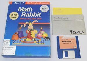 Math-Rabbit-Tandy-1000-The-Learning-Company-PC-3-5-034-DOS-Big-Box-Retro-Vintage