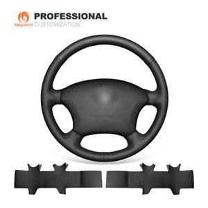 DIY Black Leather Steering Wheel Cover for Toyota Land Cruiser Prado 120 4Runner