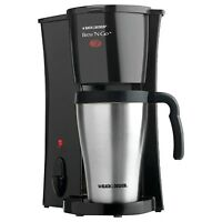 Black & Decker Personal 1 Cup Coffee Maker With Mug. Single Stainless Steel Brew