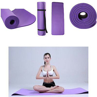 "Extra Thick (10MM) 72"" x 24""x 0.4"" NBR Yoga Mat Pad Non-Slip Durable Gym Pad"