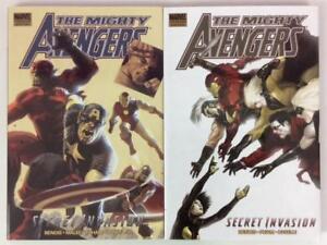 Mighty-Avengers-Secret-invasion-books-1-amp-2-Hardcover-Marvel-2008-high-grade