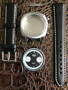 ARSA Retro Chronographen Uhrenkit fürETA Valjoux 7733 SWISS MADE Uhrengehäuse