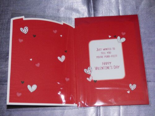VALENTINES DAY CARD FROM THE CAT OR DOG TRAD INSERTED 3D  PET YOUR VALENTINE PET