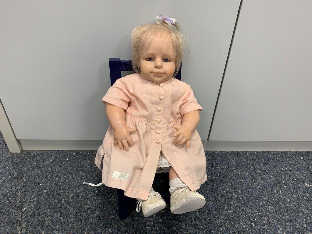 Brigitte Leman Resin Puppe 58 cm. Top Zustand