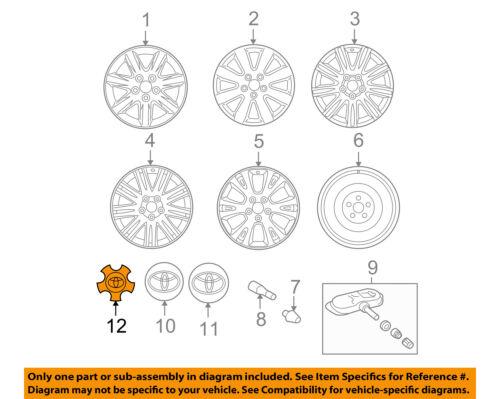 TOYOTA OEM 05-10 Avalon Wheels-Center Cap 42603AC050