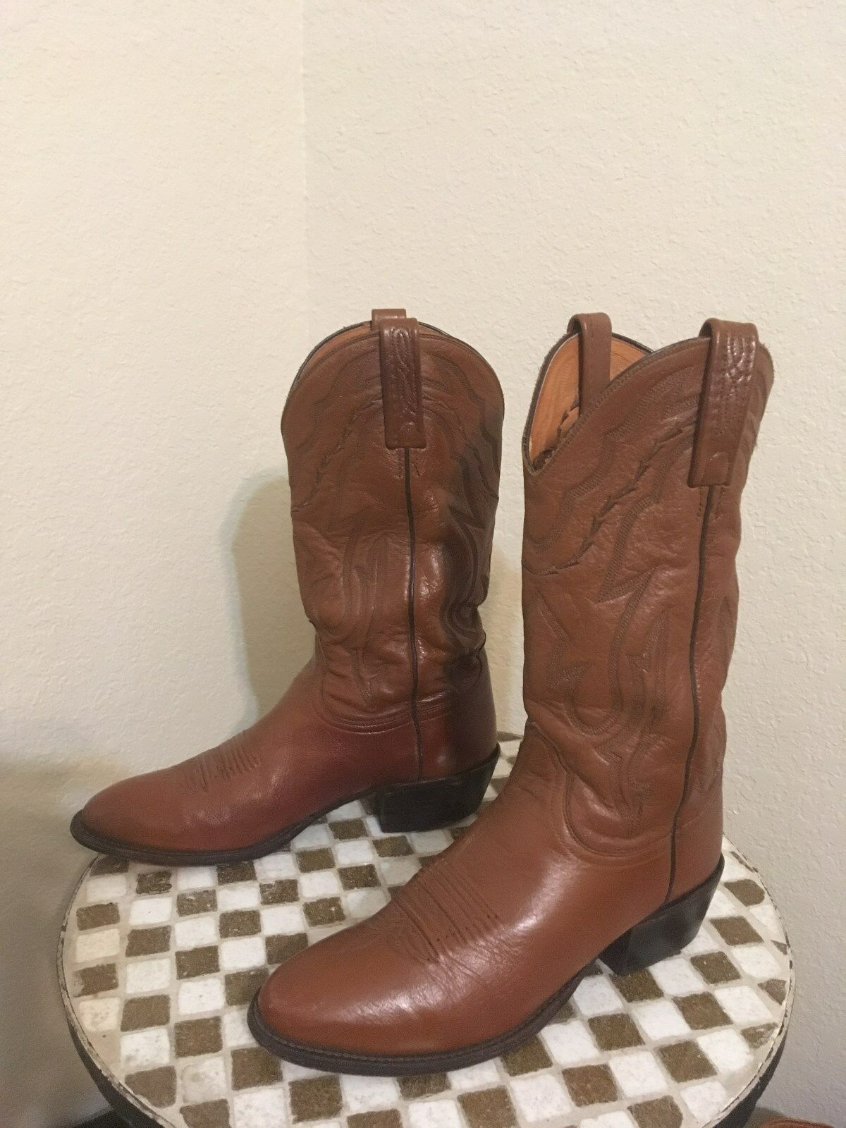 LUCCHESE BROWN  WESTERN COWBOY RODEO RANCH WORK BOOTS  9 M