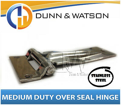 Medium Over Seal Stainless Steel Hinge - Camper Trailers, Caravans, Trucks