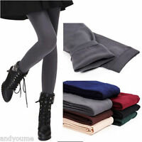 Womens Sexy Winter Warm Fleece Lined Slim Leggings Thick Footless Stretchy Pants