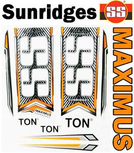 New Sunridges SS Ton Maximus 2016 Green English Willow cricket bat stickers.SG