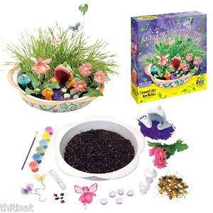 Image Is Loading Kid Craft Creativity Enchanted Fairy Garden Kit Pot