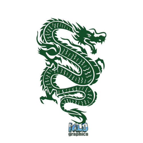 Decal Mythical Legend Tribal Design RPG CHINESE DRAGON Vinyl Sticker