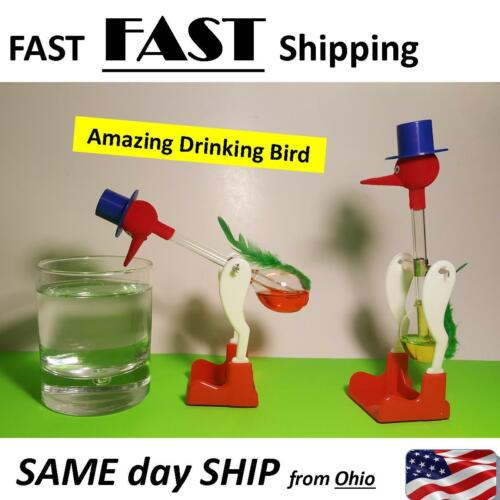 1Pc NonStop Liquid Glass Drinking Lucky Bird Duck Desk Toy Perpetual Motion New