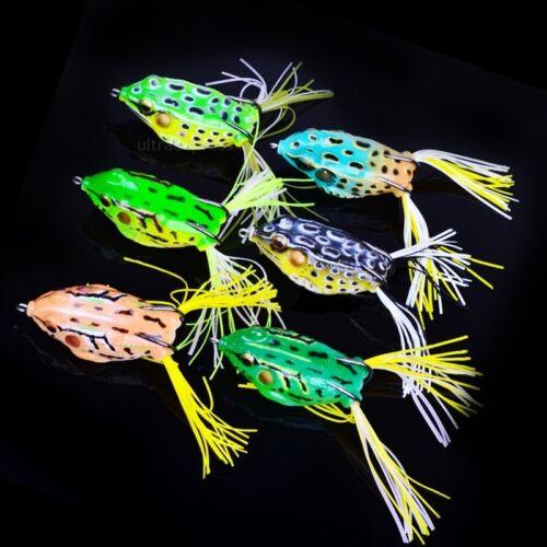 6pcs Plastic Frog Fishing Lure Crank Bait Tackle Bass Hook 5.5cm Tackle Tool
