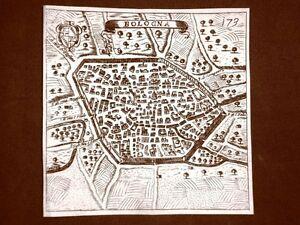 Bologna-Incisione-all-039-acquaforte-del-1665-Nova-descrittione-di-Francesco-Scoto