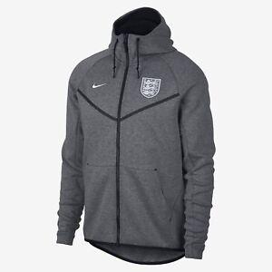 Details about Nike Tech Fleece England Soccer Football Windrunner Jacket Grey Men Size S NWT!