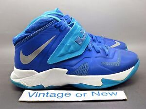 268f9d2d9eb3 Nike LeBron Zoom Soldier VII 7 Game Royal Silver Blue Hero White GS ...