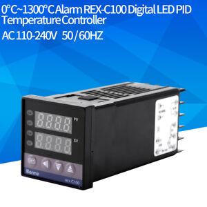 REX-C100-Digital-PID-Temperature-Controller-Regulator-K-Thermocouple-40A-SSR-NEW
