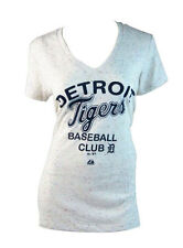 Majestic Womens Detroit Tigers Baseball T-Shirt - Cream (XL)