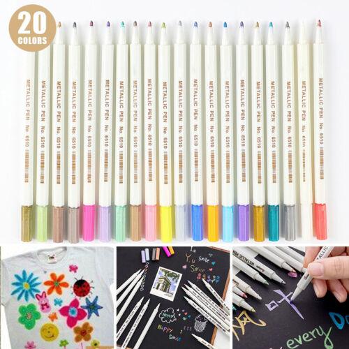 Acrylstifte Marker 20 Farben Stifte Set Acrylic Painter Filzstift DIY Steine