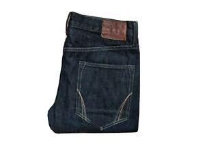 All-Saints-W32-034-L30-034-Indigo-Denim-Jeans-Homme-Delave-Iggy-Rip-Slim-Fit-Selvedge