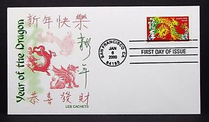 US-Leb-China-Cachet-Cover-FDC-Year-of-the-Dragon-First-Day-Letter-I-7363