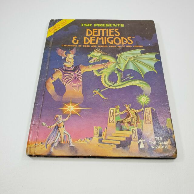 Advanced Dungeons & Dragons AD&D Deities And Demigods 128 Pages RARE 1980