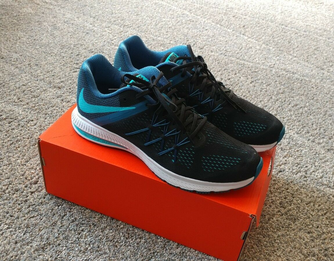 Nike Zoom Winflo 3 Mens Running Shoes Blue Black 831561-015 DBL Box SHIPPED 11